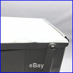 Rubbermaid Commercial Defenders Front Step-On Trash Can, 12 Gallon, White, FGST1