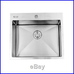 Silver Commercial Wall Mount Kitchen Hand Wash Sink Stainless Steel with Faucet