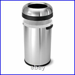 Simplehuman Bullet 21.1 Gallon Trash Can Commercial Grade Heavy Gauge Stainless