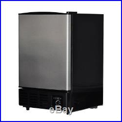 Smad 26lb Built-In Ice Machine Ice Maker Stainless Steel Commercial Kitchen Bar