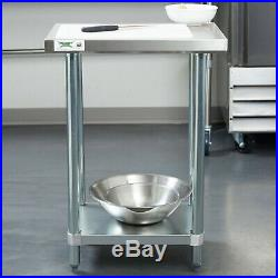 Small Kitchen Work Prep Table With Undershelf 18 x 24 Stainless Steel Commercial