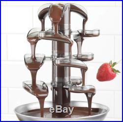 Smart 4 Tier Chocolate Fountain, Stainless Steel Fondue Commercial Style Machine