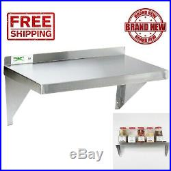 Stainless Steel 12 x 36 Solid Wall Shelf Commercial Kitchen Restaurant 18G NSF