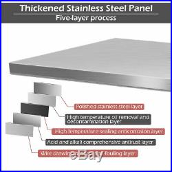 Stainless Steel 30 x 72 NSF Commercial Kitchen Work Prep Table with Backsplash