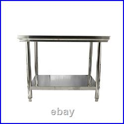 Stainless Steel 40x28 Commercial Kitchen Work Food Prep Table Loads Up 660 LBS