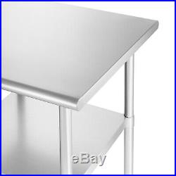 Stainless Steel Commercial Kitchen Prep & Work Table 24 in. X 24 in