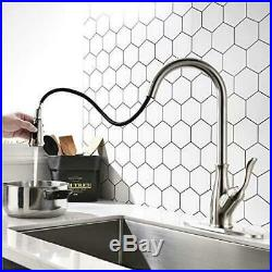 Stainless Steel Commercial Kitchen Sink Faucet Single Handle Pull Out Sprayer