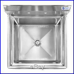 Stainless Steel Commercial Kitchen Utility Sink 30 wide