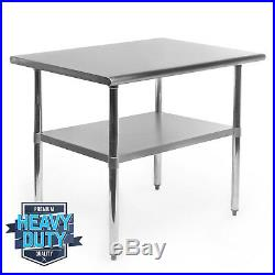 Stainless Steel Commercial Kitchen Work Food Prep Table 24 x 36