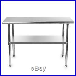 Stainless Steel Commercial Kitchen Work Food Prep Table 24 x 48