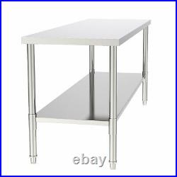 Stainless Steel Commercial Kitchen Work Food Prep Table 30 x 72