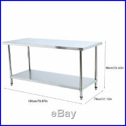 Stainless Steel Commercial Kitchen Work Food Prep Table 30 x 72 US NEW YM