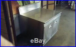 Stainless Steel Commercial Restaurant Kitchen Prep Work Table Double Cabinet