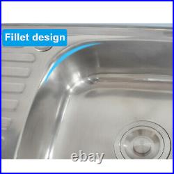 Stainless Steel Commercial Utility Sink Bowl Kitchen Catering Prep Table 2 Bowls