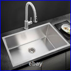 Stainless Steel Kitchen Sink Commercial Catering Food Washing Bowl Strainer Kit