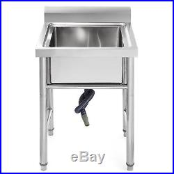 Stainless Steel Kitchen Sink Utility Sinks Commercial 23.5 Wide Handmade