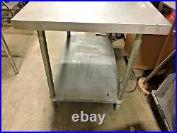 Stainless Steel Prep Table Commercial Kitchen Table 48 W