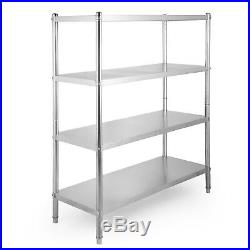 Stainless Steel Shelving Units Storage Shelf 4 Tier Kitchen Commercial Storage