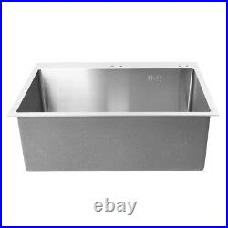 Stainless Steel Single Bowl Kitchen Sinks Commercial Home Top 60x45cm With