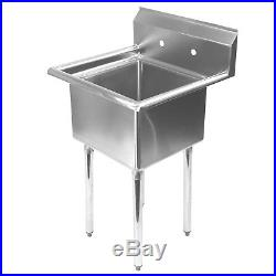 Stainless Steel Utility Sink for Commercial Kitchen 23.5 Wide