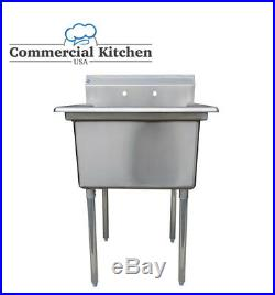 Stainless Steel Utility Sink for Commercial Kitchen -23.5 wide Free Shipping