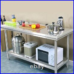 Stainless Steel Work Prep Table Station Commercial Kitchen Restaurant 200-500lbs