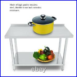 Stainless Steel Work Table Food Prep Commercial Kitchen Restaurant US Fast STOCK