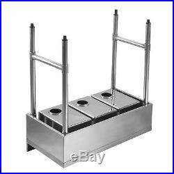 Three 3 Compartment 10x14x10 NSF Stainless Steel Commercial Kitchen Bar Sink
