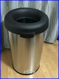 Trash Can 15 Gal. Brushed Stainless Steel Bullet Garbage Waste Commercial Grade