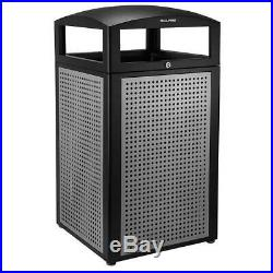 Trash Can Waste Garbage Bin All Weather Outdoor Commercial With Lid 40 Gallon