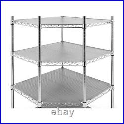 ULTRA DURABLE COMMERCIAL-GRADE 6-TIER NSF CORNER STEEL WIRE SHELVING With WHEELS