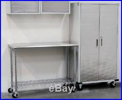 Utility Cart Kitchen Stainless Steel Island Storage Table Commercial NSF Garage