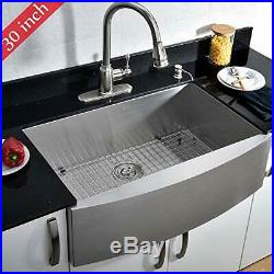 VCCUCINE Commercial Brushed 30 in Apron Single Bowl Stainless Steel Kitchen Sink